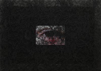 07 - ALI AHADI, Untitled (Shit Hi), 2018, 23.3X35 CM - LACE